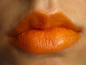 light orange lipstick